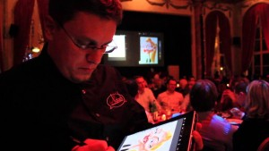 Guillaume Néel assure votre animation caricature sur tablette numérique dont ipad
